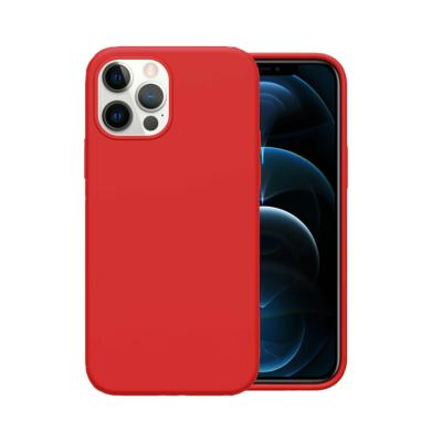 Coque Housse Silicone Soft Touch Rouge pour Apple iPhone 12 Pro