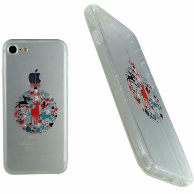 Housse Silicone Ultra Slim Transparente Motif Noël Rêne Chic pour Apple iPhone 7