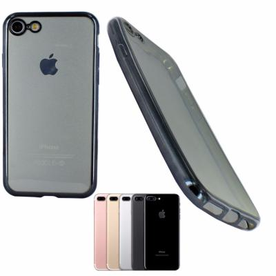 Housse Silicone Slim Transparente Noir Semi Rigide pour Apple iPhone 7