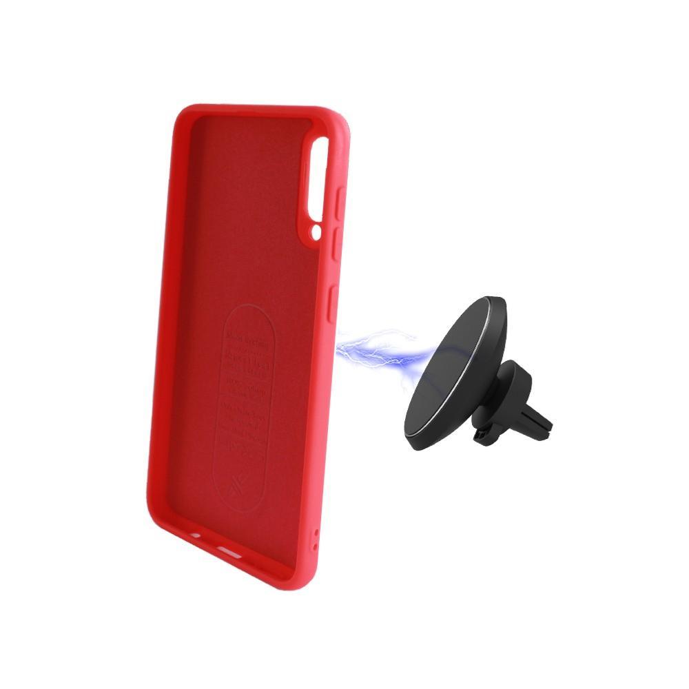 Coque Housse Silicone Rouge avec Aimant intégré pour Huawei P Smart 2019