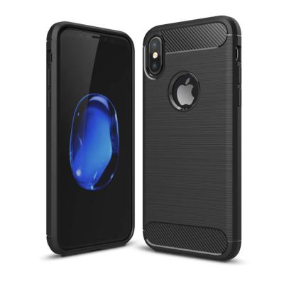 Coque silicone carbone pour Apple iPhone XS MAX