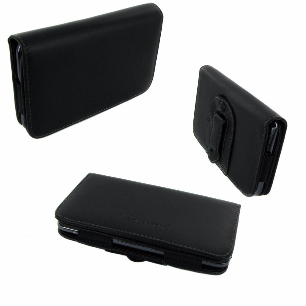 etui horizontal noir ceinture avec clip de s curit pour apple iphone 5s. Black Bedroom Furniture Sets. Home Design Ideas