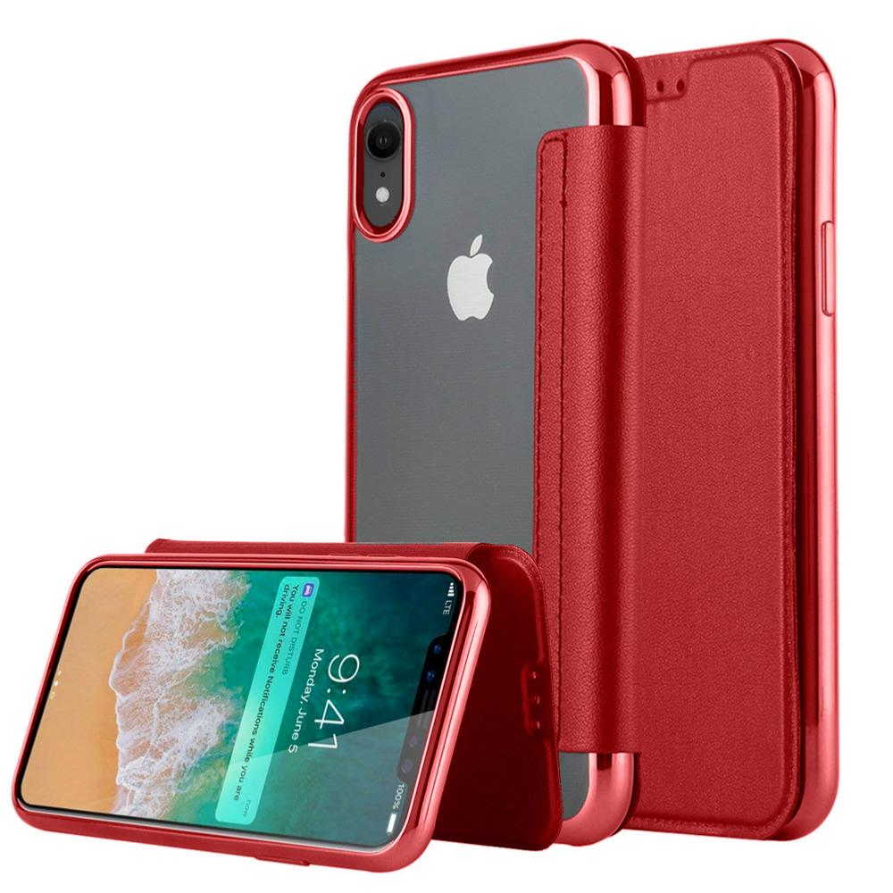 coque ultra fine transparente iphone xr red