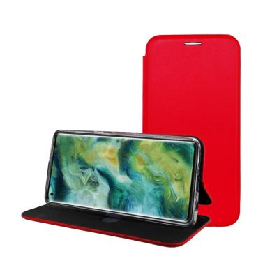 Etui Luxe Rabattable Rouge Simili Cuir Avec Support pour Oppo Find X2