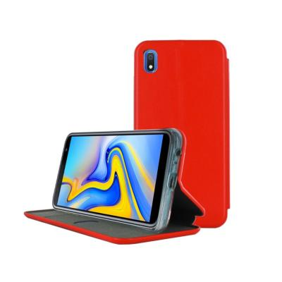 Etui Luxe Rabattable Rouge Simili Cuir Avec Support pour Samsung Galaxy A10