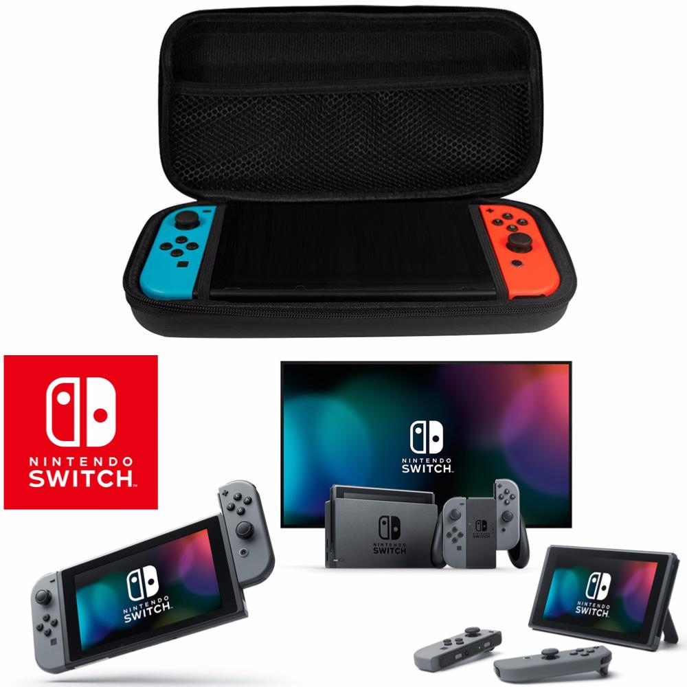 Housse etui sacoche rigide de transport aspect carbone for Housse nintendo switch