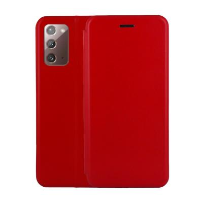 Etui Luxe Rabattable Rouge Simili Cuir Avec Support pour Samsung Galaxy Note 20